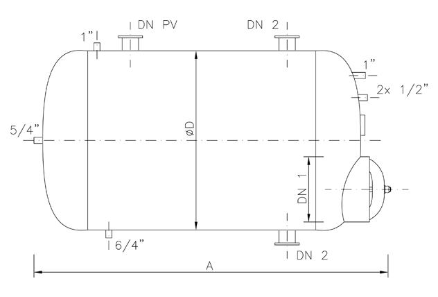 Horizontal Air Tank Tn Vl Amp Tn Lv Stationary Pressure Vessels